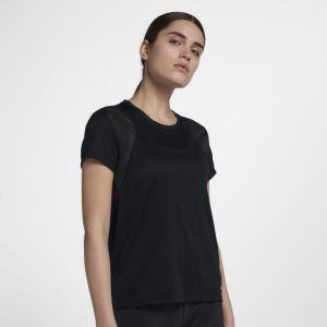 Nike Haut de runningà manches courtes pour Femme - Noir - Taille XS - Femme