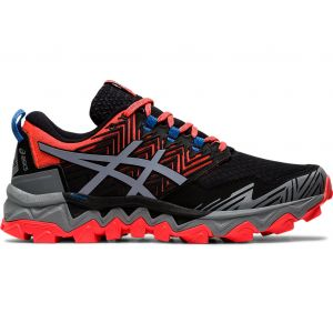 Asics Chaussures de running Gel Fujitrabuco 8 - Flash coral / Sheet rock Noir - Rose - Femme
