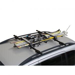 Menabo Porte-skis sur barres de toit White Bear 8597172 pour 4 paires de skis de fon