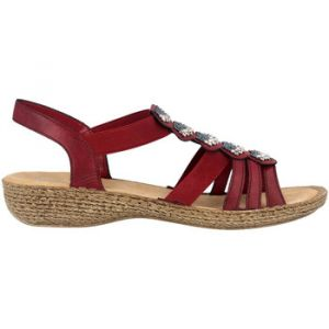 Rieker Sandales 65869-35 Rouge - Taille 42,43