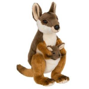 WWF Peluche Wallaby avec bébé 19 cm