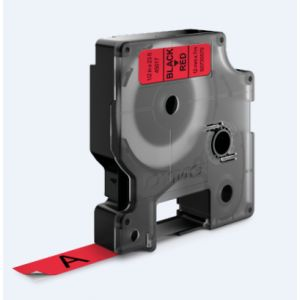 Dymo S0720570 - Ruban étiqueteuse D1 12 mm x 7 m noir / rouge