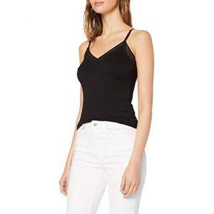 Morgan 192-BARBA,T-shirt Femme, Noir (Noir), Small (Taille fabricant:S)