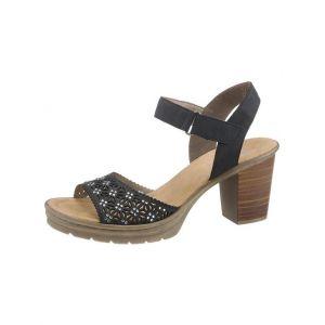 Rieker V1570 Femme Sandale à lanières,Sandales à lanières,Chaussures d'été,Confortables,pazifik/pazifik/14,36 EU / 3.5 UK
