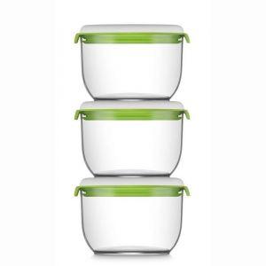 Fosa 3 récipients de mise sous vide alimentaire 30600 850 ml blanc et vert