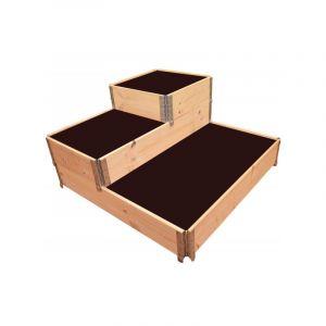 Multitanks Carré potager en bois naturel 3 étages 1200 x 1200mm