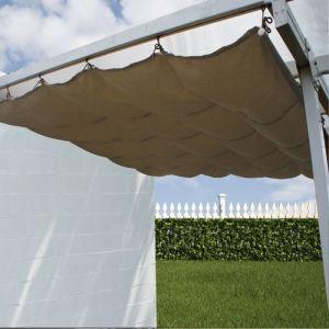 Toile d'ombrage coulissante écru pour Toit Couv' Terrasse 3 x 5 m