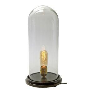 Serax Lampe de table Globe / 40 cm - Ampoule non fournie transparent,bois en verre