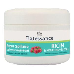 Natessance Masque capillaire à l'huile de ricin et à la kératine végétale