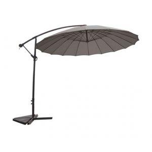 Homemaison Parasol Déporté et Inclinable Rond Ø 3m Perle Diamètre : 3 m