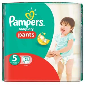 Image de Pampers Baby-Dry Pants taille 5 Junior 12-18 kg - 21 couches