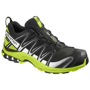Salomon XA Pro 3D GTX, Chaussures de Trail Running, Homme Noir (Lime Green/White Black) 41 1/3 EU