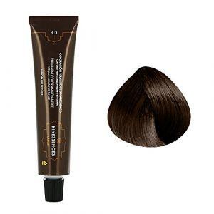 Kin Cosmetics Coloration permanente sans ammoniaque aux 5 huiles 4.50 : Châtain Moyen Brun Chocolat Sans ammoniaque, Crème 60ml