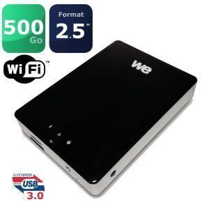 """WE Fi 500 Go - Disque dur externe 2.5"""" USB 3.0 WiFi"""