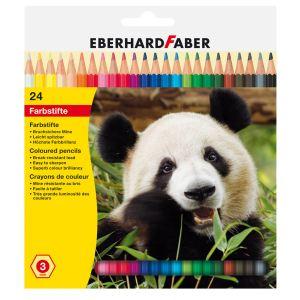 Eberhard Faber 24 crayons de couleurs Hexagonal