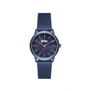Lee Cooper Montre LC06770.990 - Montre Affichage Analogique Bracelet Milanais Bleu Femme