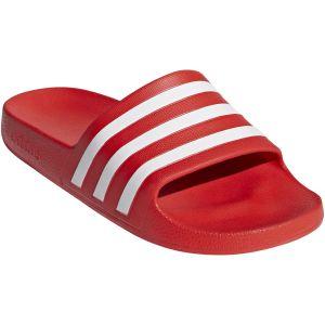 Adidas Sandales Adilette Aqua - UK 7 Rouge/Blanc Tongs