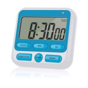 Qumox Minuteur Numérique De Cuisine Chronomètre Magnétique Avec Alarme Sonore Écran Lcd Horloge Hx106