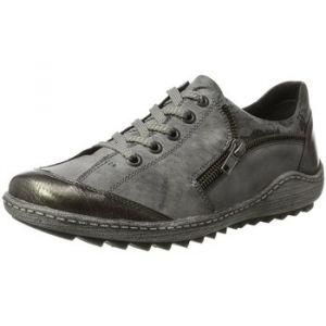Remonte R1401, Sneakers Basses Femme, Gris (Altsilber/Negro/Asphalt/Schwarz 01), 41 EU