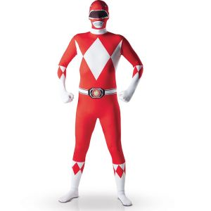 Déguisement seconde peau Power Rangers adulte (taille S ou M)