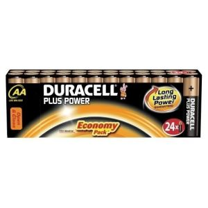 Duracell 24 piles alcalines AA LR06 Plus Power