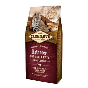 Carnilove Croquettes chat Adult Energy & Outdoor Reindeer Contenance : 400 g