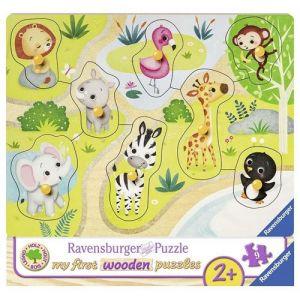 Ravensburger Puzzle en Bois - Dans le Zoo