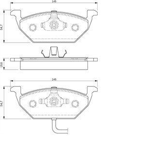 Bosch BP264 - 4 Plaquettes de frein Avant