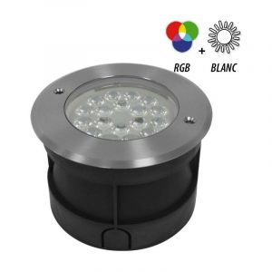 Vision-El Spot 12-24V encastrable sol rond LED RGBW 9W - IP68