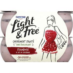 Danone Light & Free -Yaourt framboise et jus de grenade