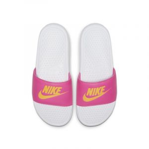Nike Claquette Benassi Femme - Blanc - Taille 38 Female