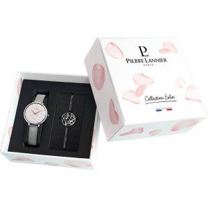 Pierre Lannier Coffret 369F608 - Coffret Montre Cadran Blanc + Bracelet Acier Femme
