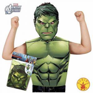 T-shirt et masque Hulk pour garçon 3 à 6 ans