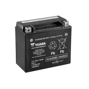Yuasa Batterie moto YT20H-BS L 175mm W 87mm H 155mm Batterie identique à l'origine convient à tous types de 2 roues et quad