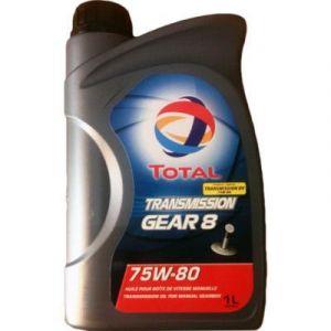 Total Transmission Gear 8 75W80 - Huile de transmission pour boîte manuelle, bidon de 1 litre