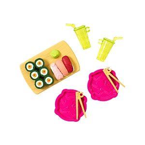 Mattel Poupée Barbie accessoires plateau sushi