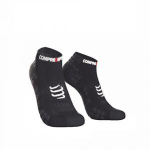 Compressport Chaussettes Chaussettes Pro Racing 3 Run Low Noir - Taille 39 / 41,42 / 44,35 / 38