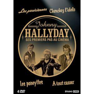 Image de Coffret Johnny Hallyday - Ses premiers pas au cinéma : Les parisiennes + Cherchez l'idole + Les poneyttes + À tout casser