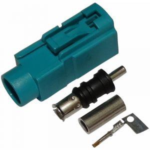 Aerzetix Connecteur fiche prise FAKRA femelle vert pour câble RG174