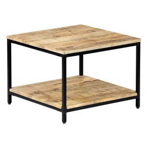 VidaXL Table basse 60 x 60 x 45 cm Bois de manguier massif