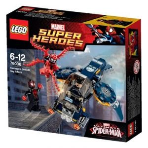 Lego 76036 - Super Heroes : Marvel Comics - L'attaque aérienne de carnage contre le Shield