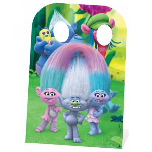Figurine en carton passe tête Trolls Can't Stop the Feeling
