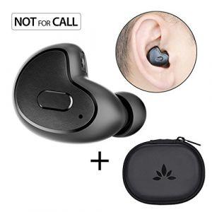 Avantree Mini écouteur Bluetooth (NON COMPATIBLE PRISE D'APPELS) pour Moto GPS, Podcasts, Livres Audio, Invisible Ergonomique Petit intra-auriculaire Sans-fil Oreillette (Oreille Droite Uniquement) Direct