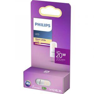 Philips lighting LED GY6.35 Standard 76791400 1.8 W = 20 W blanc chaud (Ø x L) 1.3 cm x 3.5 cm 1 pc(s)