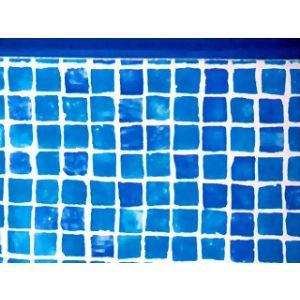 Star Pool Liner imprimé rail 50/100 pour piscine hors-sol ronde Ø4,60 x 1,20 m