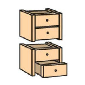 Otto Office Bloc à 4 tiroirs Book Case Plus II en hêtre