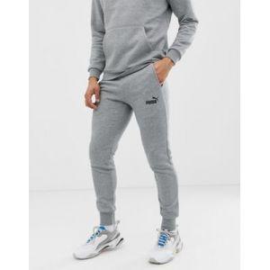 Puma Pantalon de Sweat Essentials Slim Fleece pour Homme Medium Gray Heather XS