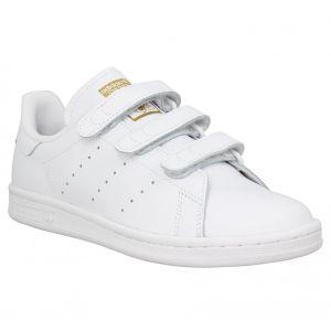 Adidas Stan Smith velcro cuir Femme-40-Blanc