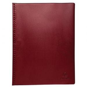 Exacompta Lot de 5 protège-documents PVC - 80 vues - vega opaque- A4 - Bordeaux - 88425E