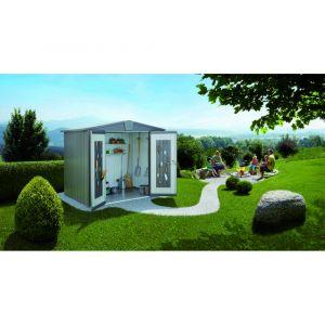 Biohort Abri de jardin en métal Europa Taille 3 Gris Quartz